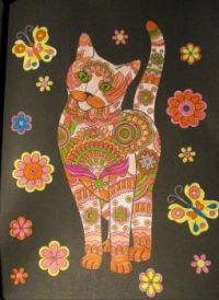 Cat 2 - Coloring Book