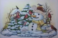Snowman and his visitors