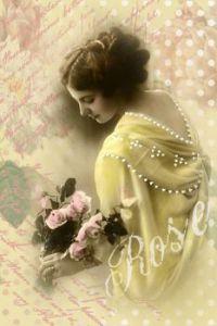 Damen mit rose
