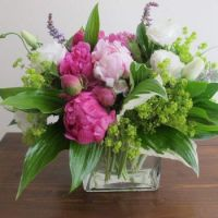 Happiness  is..... Romantic Pink Peony Bouquet.