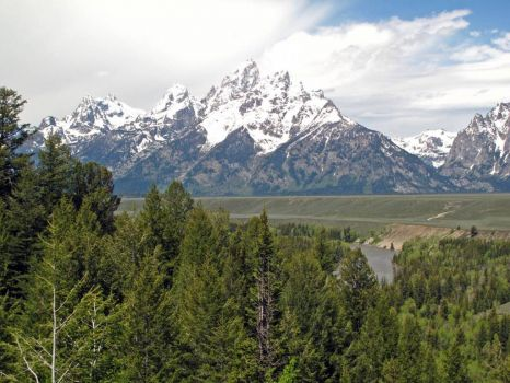Grand Teton skies at Snake River overlook