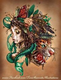 Mermaid and Tiger