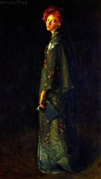 The Girl with a Book by William Merritt Chase.