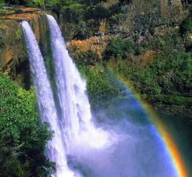 WATERFALLS & RAINBOWS - KAUAI, HI