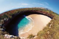 Hidden-beach-in-Marieta-Mexico