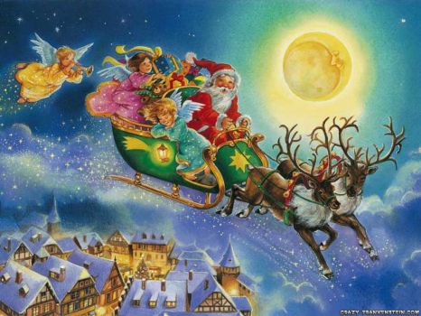 santa's ride with the angels