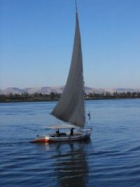 Boat on river Nile in Egypt
