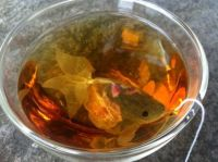 Waiter,there's a goldfish in my tea...