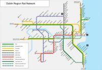 Dublin rail network map