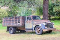 TIRED OLD TRUCK