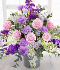 Happiness is....Pink  and Mauve Floral Arrangement.