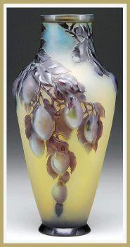 Galle mold blown shoulder vase