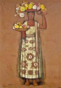 Untitled (Woman with Flowers, ca 1935)