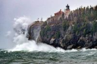 weather - Split Rock Light on Lake Superior