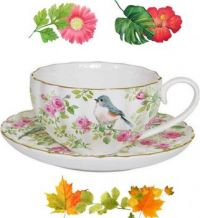 Nature themed teacup
