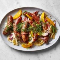 Sausages with Roasted Fennel & Oranges