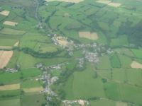 Caldbeck from the air. Lake District, UK