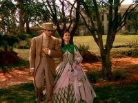 Vivien Leigh as Scarlett O'Hara, and Clark Gable as Rhett Butler