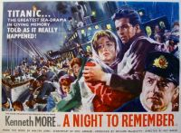 "A NIGHT TO REMEMBER -  POSTER ""B"" KENNETH MORE  1958"