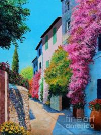 Bougainvillea In Grimaud Digital Art by MGL Meiklejohn Graphics Licensing