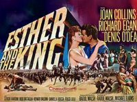 ESTHER AND THE KING - 1960 POSTER  JOAN COLLINS, RICHARD EGAN