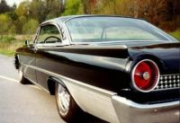 1961 Ford Galaxie Starliner Canted Thin Fins