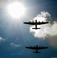 Lancasters ride the sky