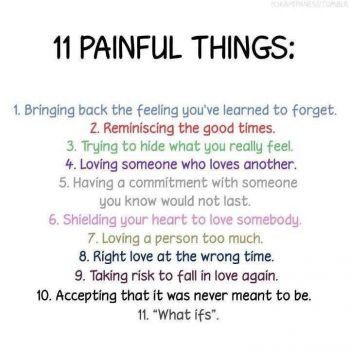 11 painful things