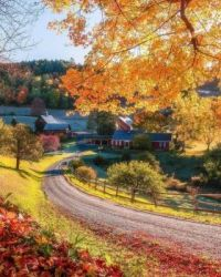 Sleepy Hollow Farm in Woodstock, Vermont,USA