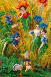 Victorian flower fairy card