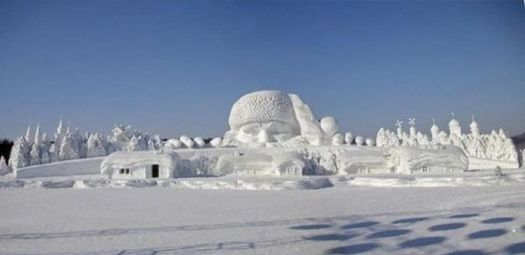 Quebec Winter Carnival 2012, Snow sculpture 1