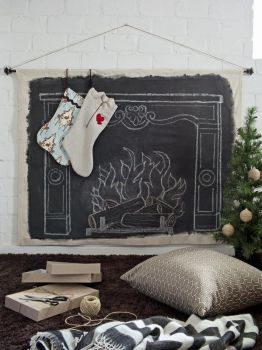 Creative answer for where to hang the stockings!