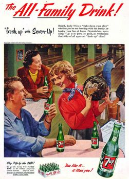 7 UP - 1950'S AD