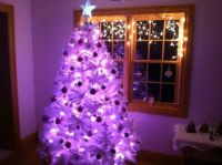 the pink christmas tree