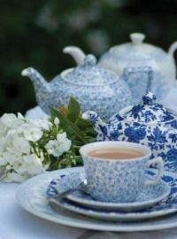 Blue Sprigged Tea