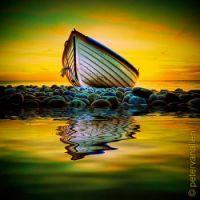 Boat in the morning sun.