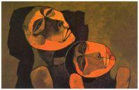 Madre y niño (1986) ~ Oswaldo Guayasamín (Ecuador)