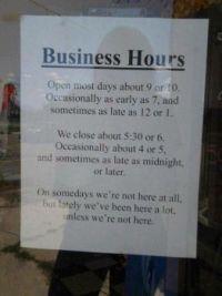 Does anyone work here?