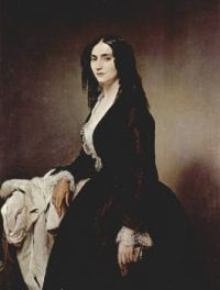 Francesco Hayez  Porträt der Matilde Juva-Branca 1851