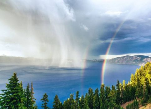 Storm over Crater Lake - photog unknown