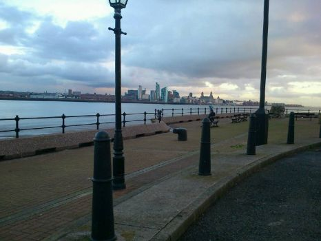 View of Liverpool from Egremont