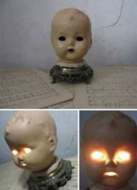Tip: Don't Throw Out Old Doll Heads. You Can Turn Them Into Handy Night Lights For Your Kids