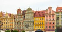 Buildings in a town square in Wroclaw - Poland, bt Petr Kratochvil