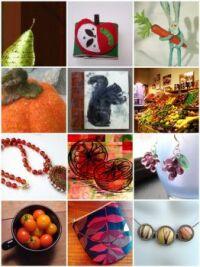 fruit, jewelry, etc.