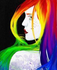 Rainbow: Girl Painting
