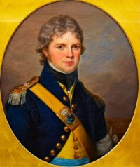 Portrait of the Lieutenant Colonel Count Carl Claes Piper (1770-1850) wearing the uniform of the Lifeguard Corps.