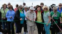 Community walk ribbon cutting