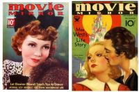 Movie Mirror ~ Claudette Colbert ~ December, 1932 and Movie Mirror Magazine ~ Greta Garbo ~ December, 1936