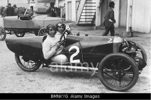 EB Ware in his 1924 racing Morgan