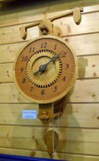 Lihýřové hodiny v muzeu Dřevák Modrava, CR